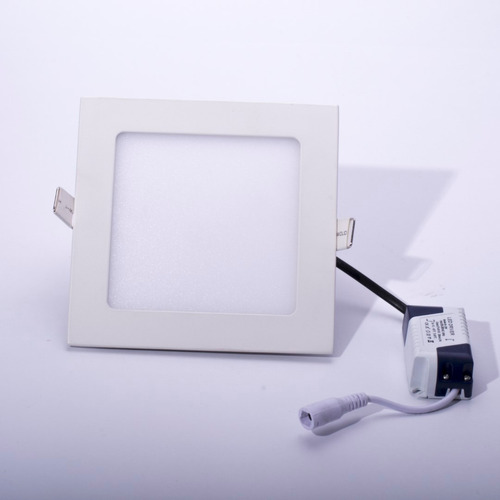 lampara panel led de incrustar cuadrado 9w 6000k