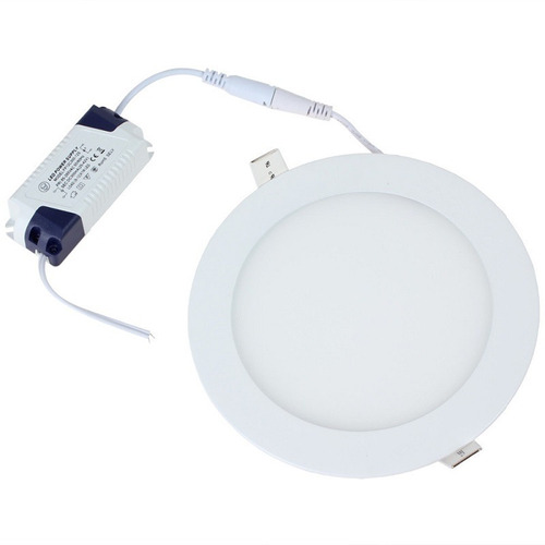 lampara panel led  empotrar en plafon o  bote 9w blanca full