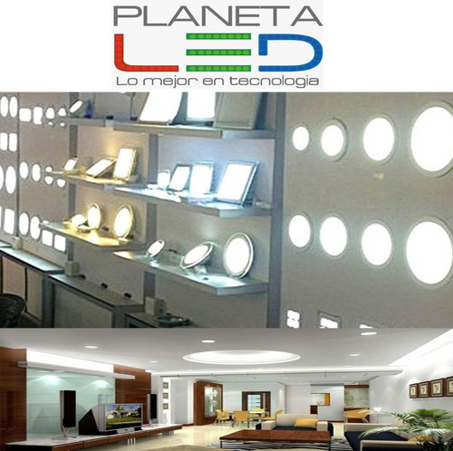 lampara panel led gypsum empotrable 3w 6w 12w 18w 24 36w 48w