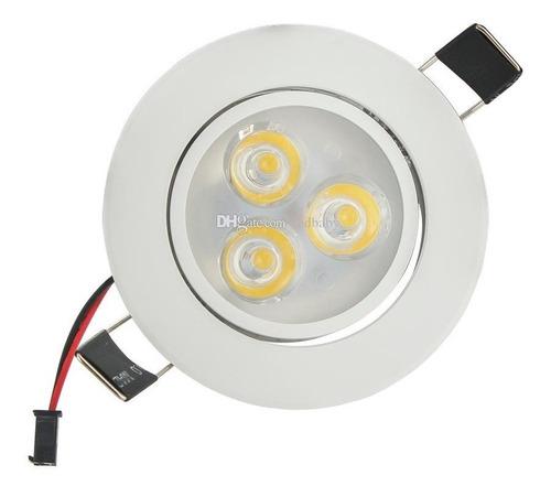 lampara panel ojos de buey spot led super slim de 3w