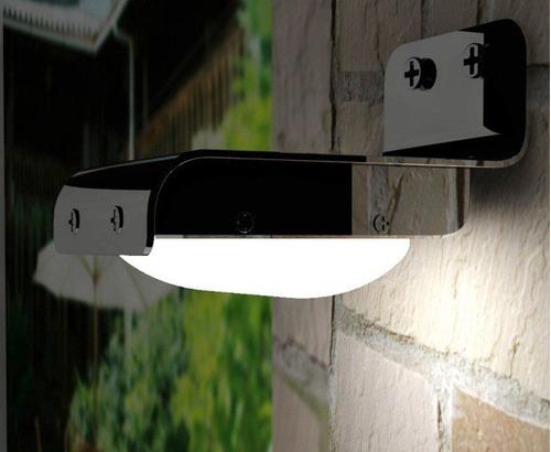 lampara panel solar 16 led minimalista exterior envio gratis