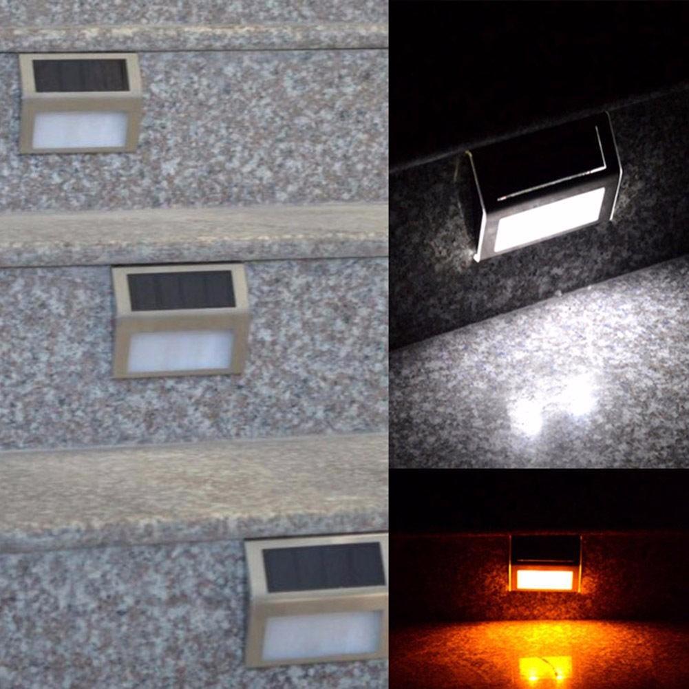 Lampara panel solar exterior escalera bater a incluida for Lampara solar pared exterior