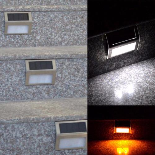 lampara panel solar exterior, escalera,  batería incluida