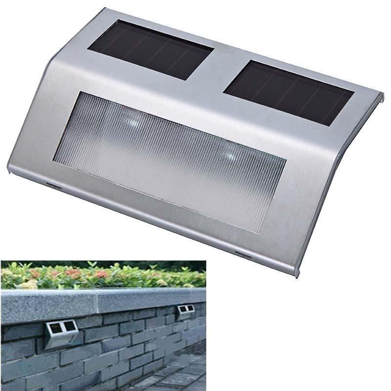 Lampara panel solar p exterior escalera barda jard n for Luz solar para exterior