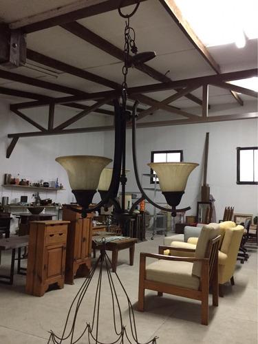 lámpara para colgar de techo en hierro forjado