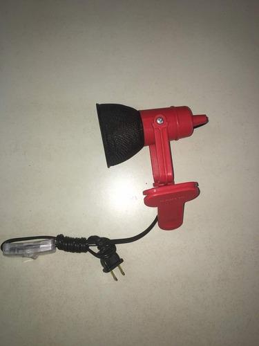 lampara para escritorio color rojo