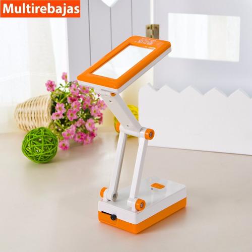 lámpara para escritorio, mesa con espejo recargable