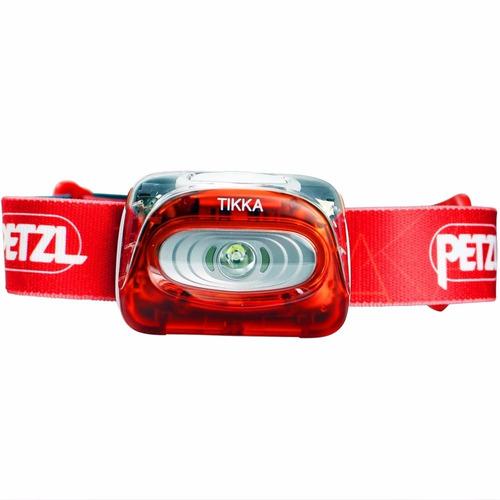lampara para la cabeza de 100 lumenes con pilas aaa rojo