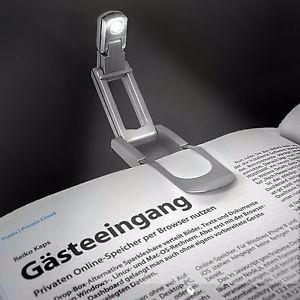 lámpara para lectura de libros book light