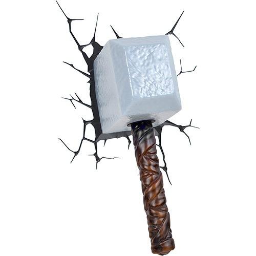 lampara para pared 3d martillo de thor mjlonir marvel