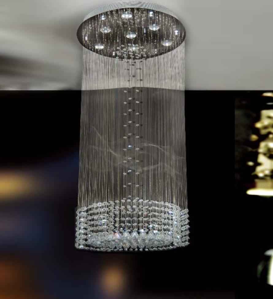 Lampara para techo elegante dise o con esferas de - Lamparas de cristal para techo ...