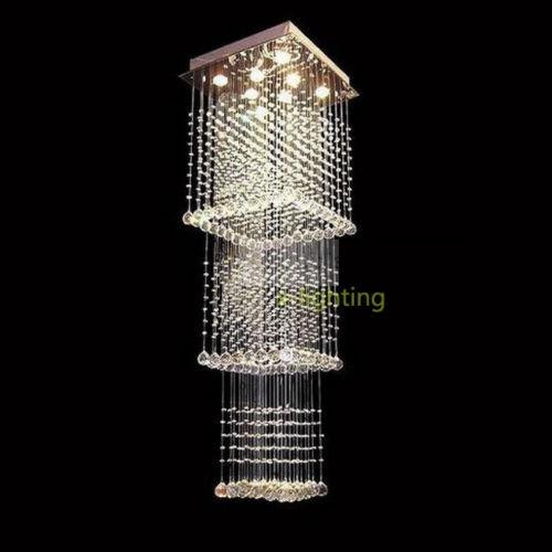 Lampara de cristal moderna contemporanea luz led para - Lamparas de techo modernas led ...