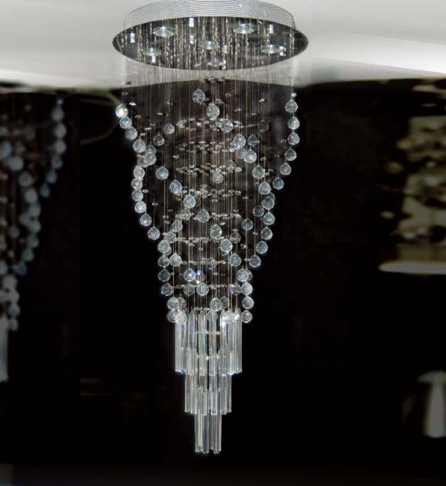 L mpara para techo plaf n colgante cristal y hierro - Colgantes de cristal para lamparas ...