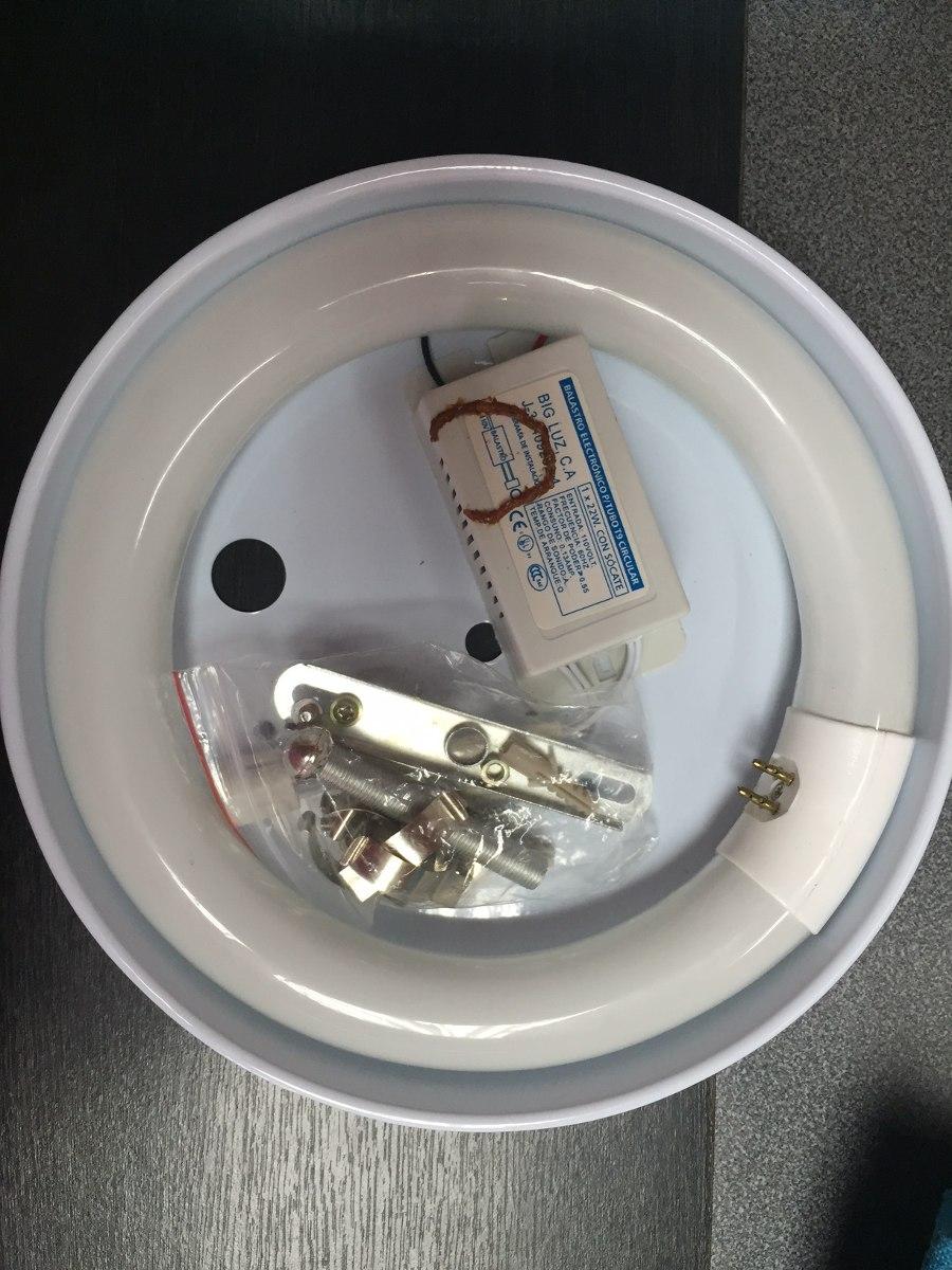 Lampara para tubo fluorescente circular 22w c bombillo for Tubo fluorescente circular 32w