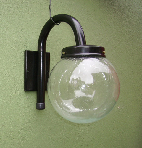 lampara pared globo jardin *218* + led 10 watt