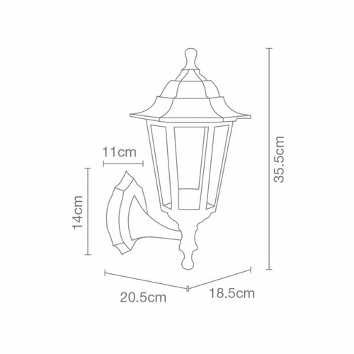 lámpara pared para jardín
