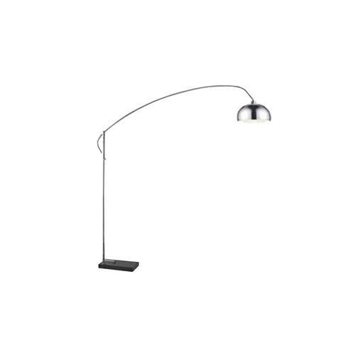 lampara pie living diseño curva marmol prima candil cromada