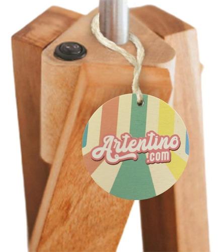 lampara pie madera nordica diseño deco artentino apto led