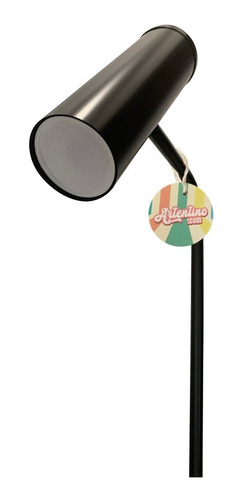 lampara pie metal diseño living moderna led movil incluido