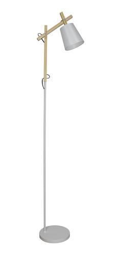 lámpara pie timoteo una luz madera articulada blanco deco