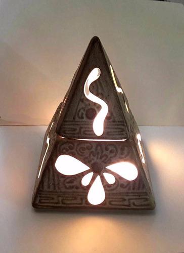 lampara piramide de ceramica energetica rincondeluz2008