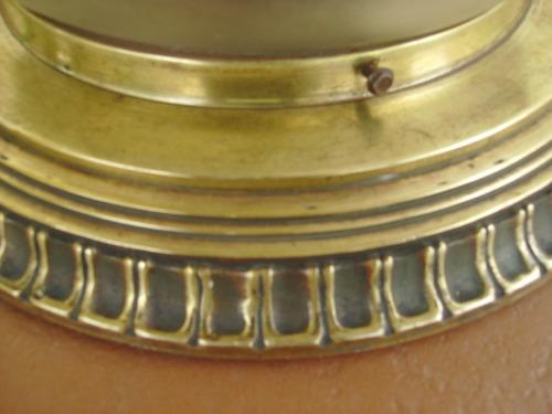 lampara plafon de bronce labrado