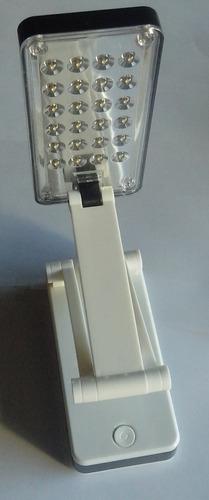 lampara plegable 24 leds recargable usb velador portatil