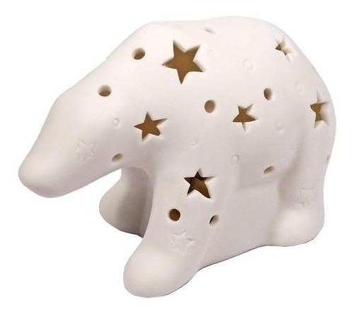 lámpara porcelana oso