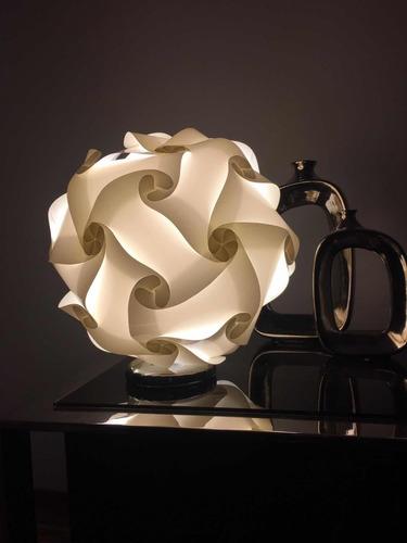 lámpara portátil blanca de diseño - 20 cm. diámetro