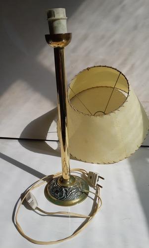 lámpara portátil de bronce con pantalla / 37 cm