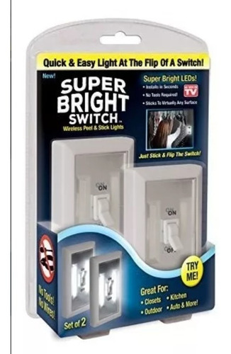 lámpara portátil interruptor led switch incluye 2