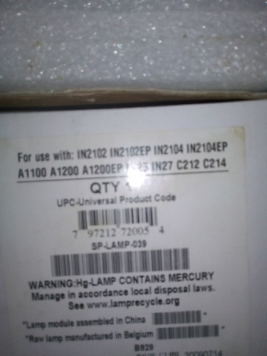 lampara proyector infocus