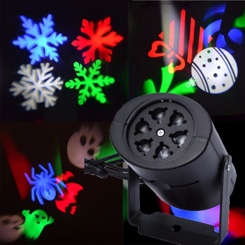 lampara proyector led navidad halloween san valentin 4 logos