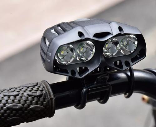 lampara recargable bicicleta 10000 lúmenes poder 4x cree t6
