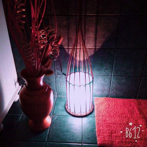 lámpara redonda chica de mimbre, boulogne/ san isidro