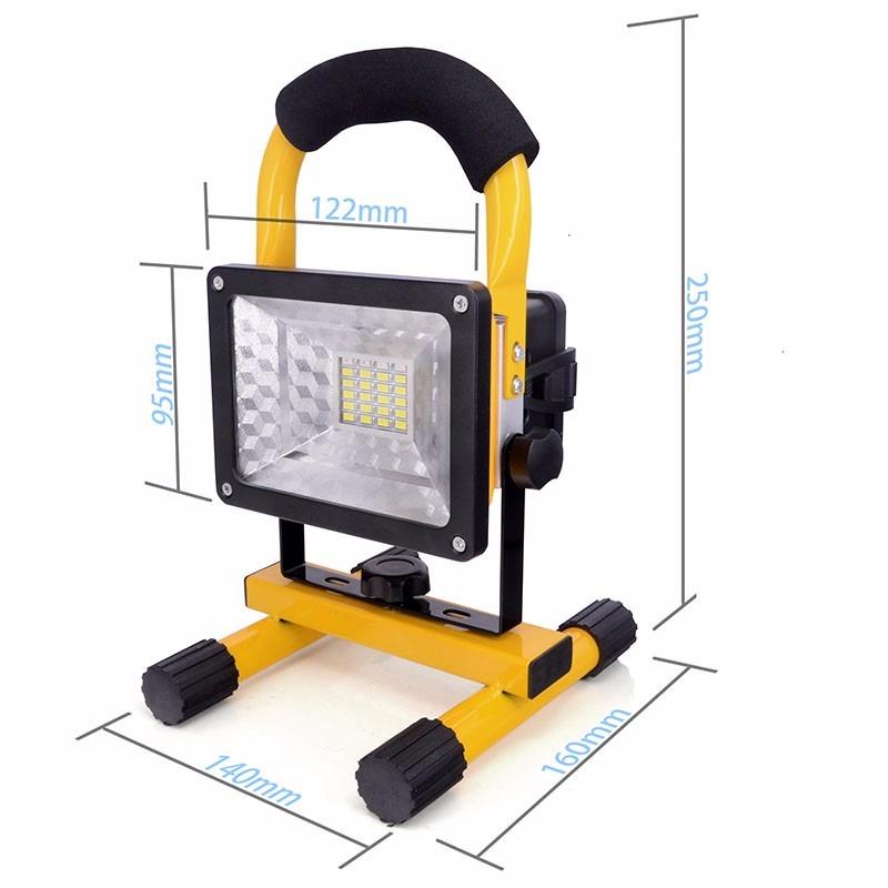Lampara reflector linterna led 30w portatil y recargable - Linterna recargable led ...