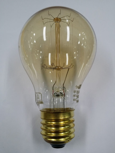 lampara retro filamento incandescente antique 25w a60 e27