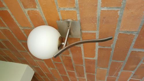 lampara retro vintage bola pared exterior - diseñador