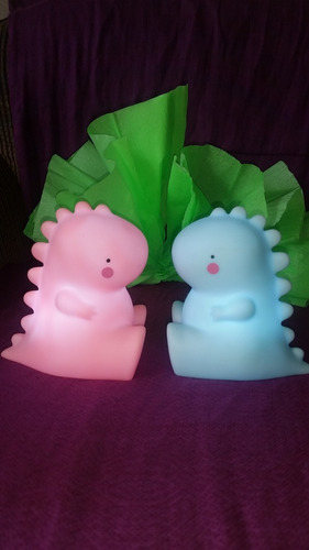 lampara rosada de dinosaurio