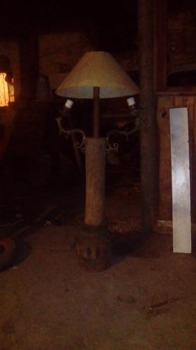 lampara rustica muy linda