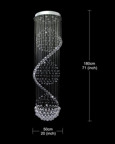 lampara sala/hogar cristal en espiral led+envio gratis