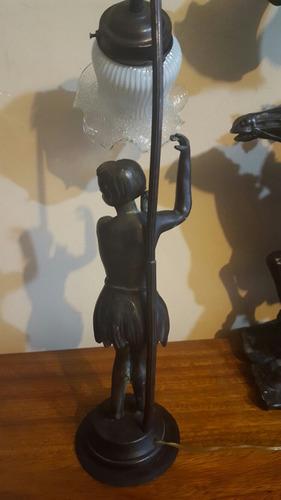 lampara sellada francesa de bronze.