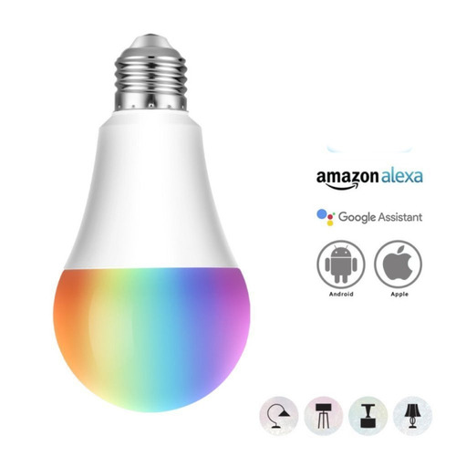 lampara smart e27 led multicolor 20w wi-fi rgb android nuevo
