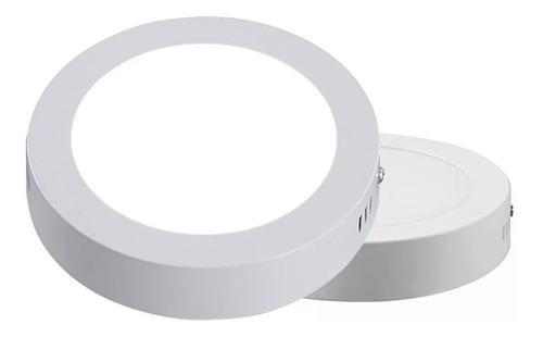 lampara sobreponer led 18w plafon luz blanca redonda 22cm