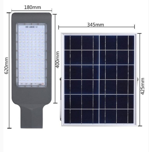 lampara solar 100w led exterior suburbana alumbrado publico