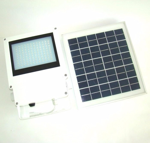 lámpara solar 108 leds para exteriores y jardín panel solar