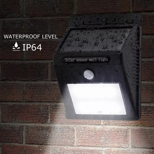 lámpara solar 10led sensor de movimiento exterior waterproof