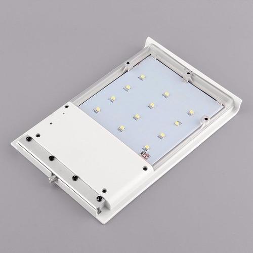 lampara solar 15 leds sensor de luz antiagua