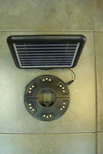 lampara solar  18 leds para sombrilla