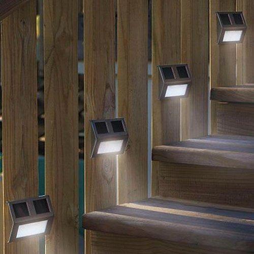 L mpara solar 2 led apropiada para escaleras jard n etc - Lamparas solares para jardin ...